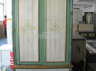 科迪家具/出口韩国/欧美经典彩绘/地中海手绘/两门衣柜/衣橱,收纳柜,
