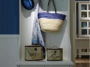 地中海风格立柜 鞋柜 玄关柜 田园风格 实木家具定做,收纳柜,