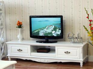宜家 现代 简约 白色1抽两屉1.7实木 时尚电视柜 视听柜 特价2046,收纳柜,