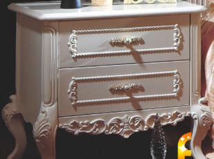 法丽莎家具G1 欧式家具 欧式床头柜 白色法式床头柜 实木床头柜,收纳柜,