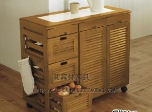 白色实木蔬菜柜、餐边柜、衣柜【出口日本实木家具】,收纳柜,