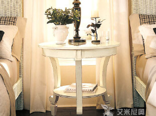 艾米尼奥 地中海田园系列 卧室家具实木沙发边几头柜Y1179,收纳柜,