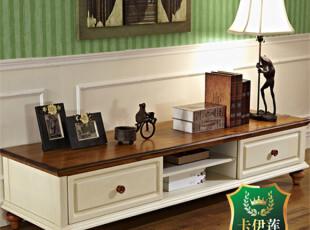 卡伊莲家具美式乡村电视柜 实木地柜储物柜液晶电视柜包物流AT02D,收纳柜,