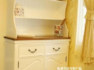 私家生活松木餐边柜现代时尚简约白色家具宜家特价田园欧美式实木,收纳柜,