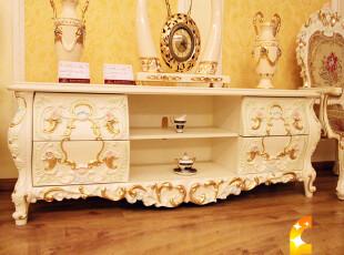 法丽莎G3 欧式 法式 家具 欧式 实木 古典 电视柜 地柜 特价 8807,收纳柜,