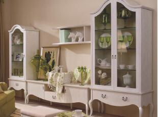 地中海风格 美式田园 实木 装饰柜 视听柜 地柜 组合柜 电视柜,收纳柜,