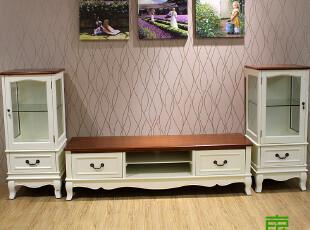 东居 特价 地中海家具 美式家具 实木电视柜 地中海电视柜 展示柜,收纳柜,