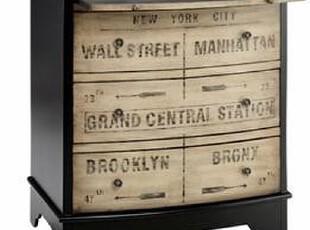 美式乡村风格 欧式 做旧手绘英文床头柜 收纳柜 斗柜 边柜 电话柜,收纳柜,