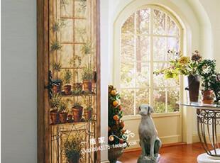 特价 美式乡村风格  油画感手绘多功能大鞋柜 储藏柜 欧式家具,收纳柜,
