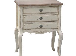 Nina 出口法国家具 赫尔曼做旧系列 外贸床头柜 边几 预定,收纳柜,