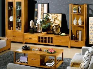 榆木家具 东南亚风格 实木饰柜 地柜 电视柜 组合柜JY002G,收纳柜,