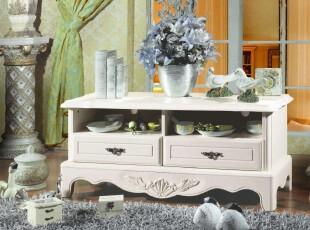 丰采家居-K05 韩式实木电视柜 田园地柜 客厅电视柜 厂家直销,收纳柜,