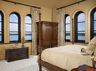 ,地中海风情,卧室,