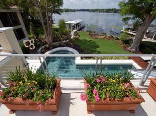 ,热带风情,池,
