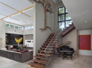 ,现代主义,楼梯,