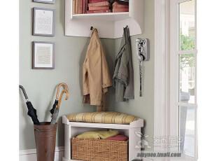 艾米尼奥门厅家具 地中海风格实木家具套餐挂柜 衣帽架 Y0162,收纳柜,