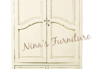 Nina出口法国家具 外贸仿古乡村衣柜 储藏柜,收纳柜,