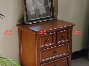 欧式实木 美式乡村家具*新品 楸木 床头柜 ( 编号YE3,有现货,收纳柜,