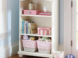 艾伦艾妮菲比 书柜 储物柜 实木书架 置物柜 美式田园儿童家具,收纳柜,
