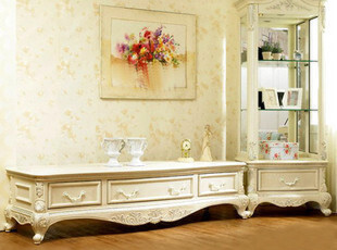 【淘品牌】奥汀堡家具 实木精雕欧式家具 电视柜09693 w,收纳柜,