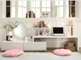 新城易居 移动电视柜 韩式 现代简约 可伸缩 田园  卧室电视柜,收纳柜,