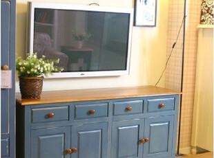 地中海风格家具地中海电视柜 比邻乡村电视柜田园风格家具实木,收纳柜,