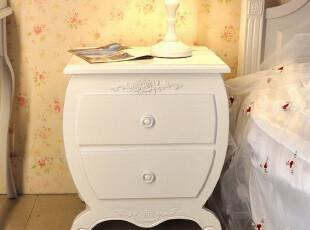 床边柜 田园 储物柜 斗柜 实木 现代简约 床头柜 烤漆白色特价,收纳柜,