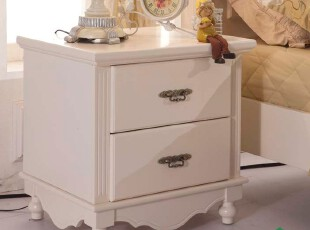 大森林家具FA7 简欧床头柜 田园家具 欧式 韩式 白色 床头柜 特价,收纳柜,