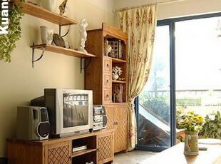 美式乡村/地中海风格实木电视柜美克美家电视柜复古做旧电视柜,收纳柜,