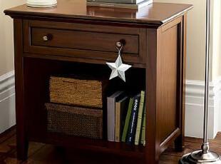 卧房美式简约家具 实木床头柜 美式田园风格卧室家具 现代简约,收纳柜,