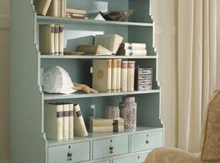 地中海风格家具 实木书柜书架 储藏柜,收纳柜,
