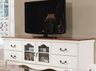 私家生活欧式地中海松木电视柜地柜田园时尚简约实木特价家具组合,收纳柜,