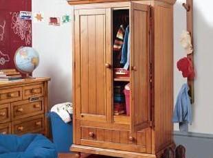 实木两门大衣柜 卧房衣柜100%纯实木家具 XP.395新品 衣柜,收纳柜,