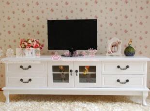 全民疯抢 简欧田园实木电视柜 韩式白色电视柜 实木电视柜4种尺寸,收纳柜,