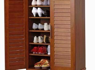 『青岛外贸出口日本家具』木脚 百叶门鞋柜 60厘米宽,收纳柜,