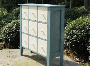 白浪花-地中海风格家具 多抽柜 斗柜 实木边柜 乡村家具 昨日乡村,收纳柜,