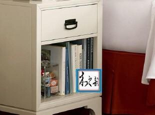 AA-CT07床头柜 比邻乡村田园美克美家风格全实木家具定制,收纳柜,