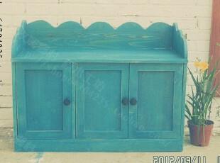 坐看云涌—地中海鞋柜 换鞋凳 实木鞋柜 地柜 坐箱,收纳柜,