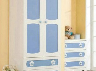 汉人居-韩式家具 田园可爱储物柜/韩式时尚衣柜 高档厅柜SC05,收纳柜,