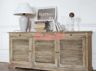 现货~出口法国桑德拉橡木实木超大仿古餐边柜电视柜,收纳柜,