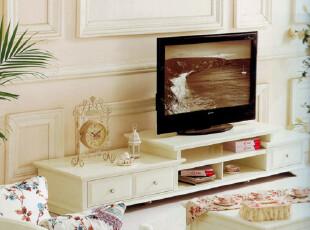 德家韩式家具田园1 电视柜 地柜 时尚 简约 多功能 视听柜 DG905,收纳柜,