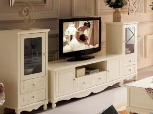 【天猫新风尚】田园韩式家具 时尚 简约实木典雅 地柜电视柜,收纳柜,