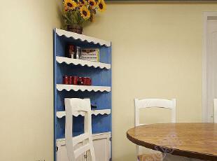 地中海风格家具 地中海蓝色角柜 书柜 陈设柜,收纳柜,