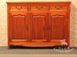 非威廉小镇康弗尔家具 美式乡村实木家具 全实木三门鞋柜K801B,收纳柜,