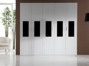 【百乘家居】白色大衣柜|板式衣柜|平开/对开门衣柜定做|现代衣柜,收纳柜,