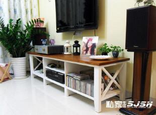 私家生活地中海欧式松木电视柜地柜家具时尚简约实木特价田园组合,收纳柜,