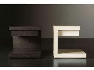 尼克爱家 床头柜 简约时尚 储藏柜收纳柜边柜白色 克鲁尼,收纳柜,