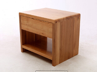 kakawood实木床头柜、纯榆木抽屉式床头柜、储物柜 新款特价!,收纳柜,
