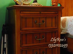 美式家具* 美式乡村风格 床头柜 (YE2 拉板,),收纳柜,