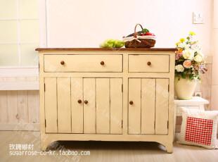 卡布奇诺—地中海风格家具 实木餐边柜 鞋柜 复古做旧 美式乡村,收纳柜,